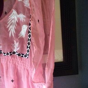 Lane Bryant Tops - Pink Lane Bryant summer sheer top